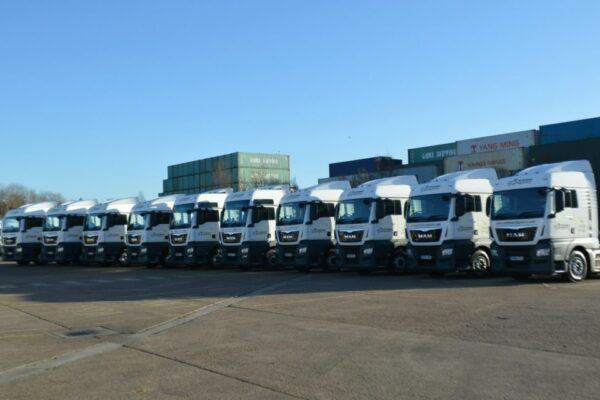 Portman Logistics Fleet of MAN Tractor Units