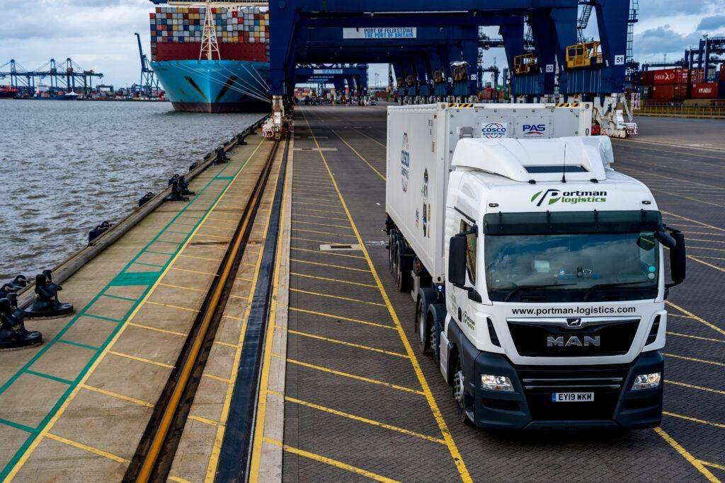 Side Loader Haulage | Portman Logistics