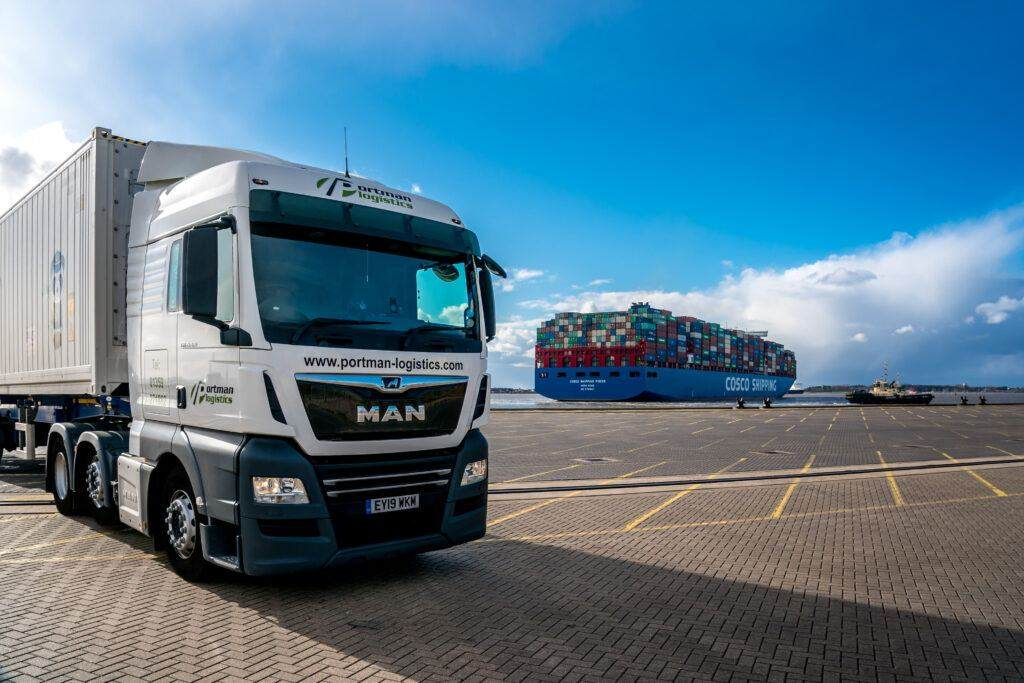 Portman Logistics at the Quay in Felixstowe