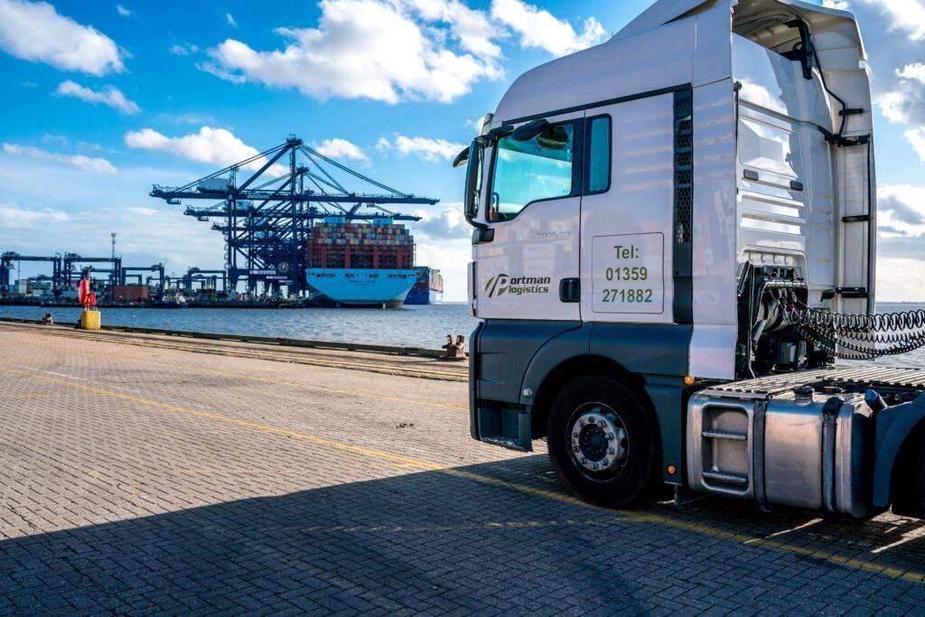 Haulage Truck Felixstowe Port