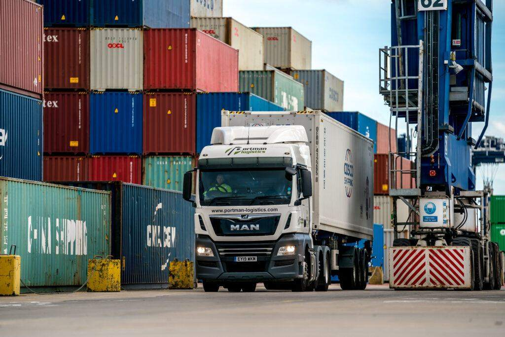 Portman Logistics vehicle in operation on the port