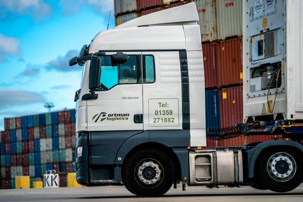 Portman Logistics vehicle on the port