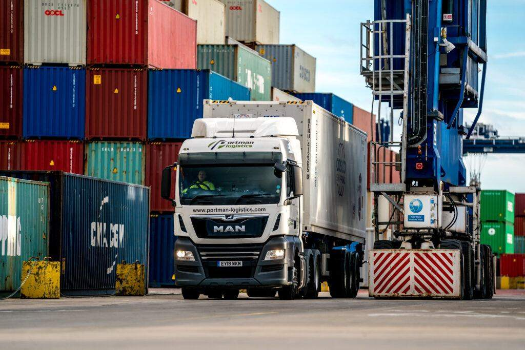 Containers on the Port of Felixstowe