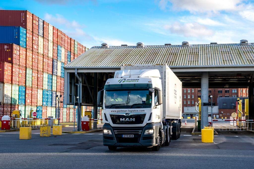 Portman Logistics Container Truck entering Port