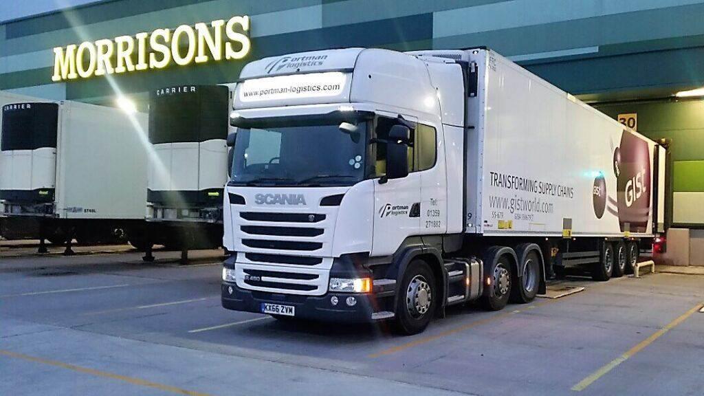 Tipping a Portman Logistics Vehicle